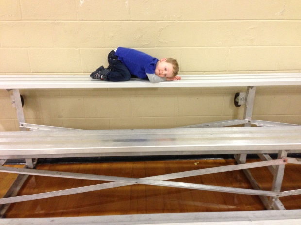 David resting after a busy Stroller Strides class